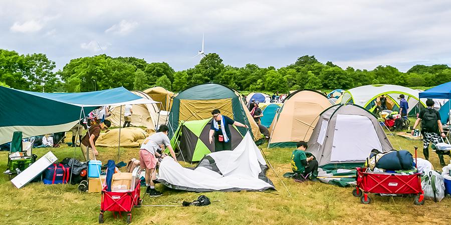 キャンプテントセット&キャンプグッズレンタル